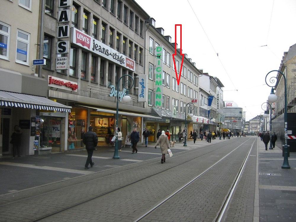 Blick auf die Obere Königsstraße